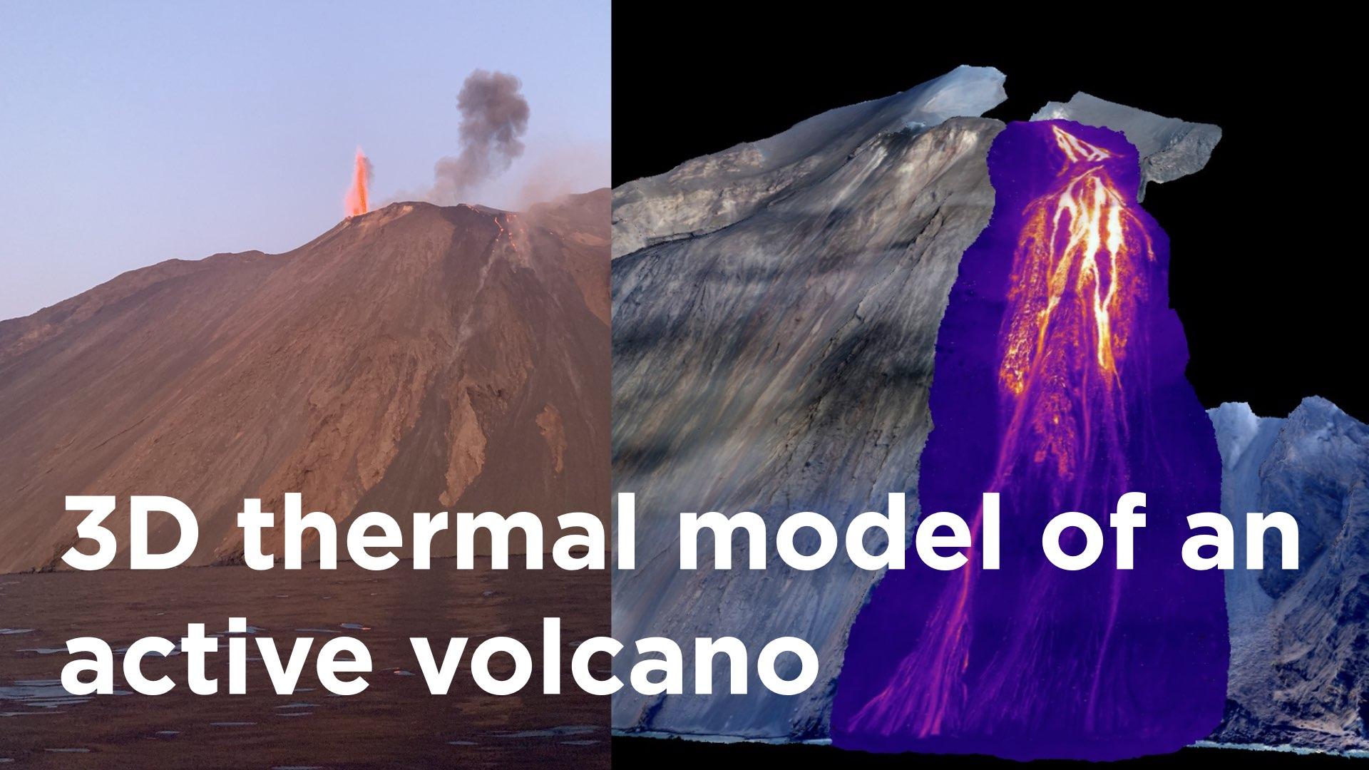 Eerste 3D Thermisch Model Van Een Actieve Vulkaan