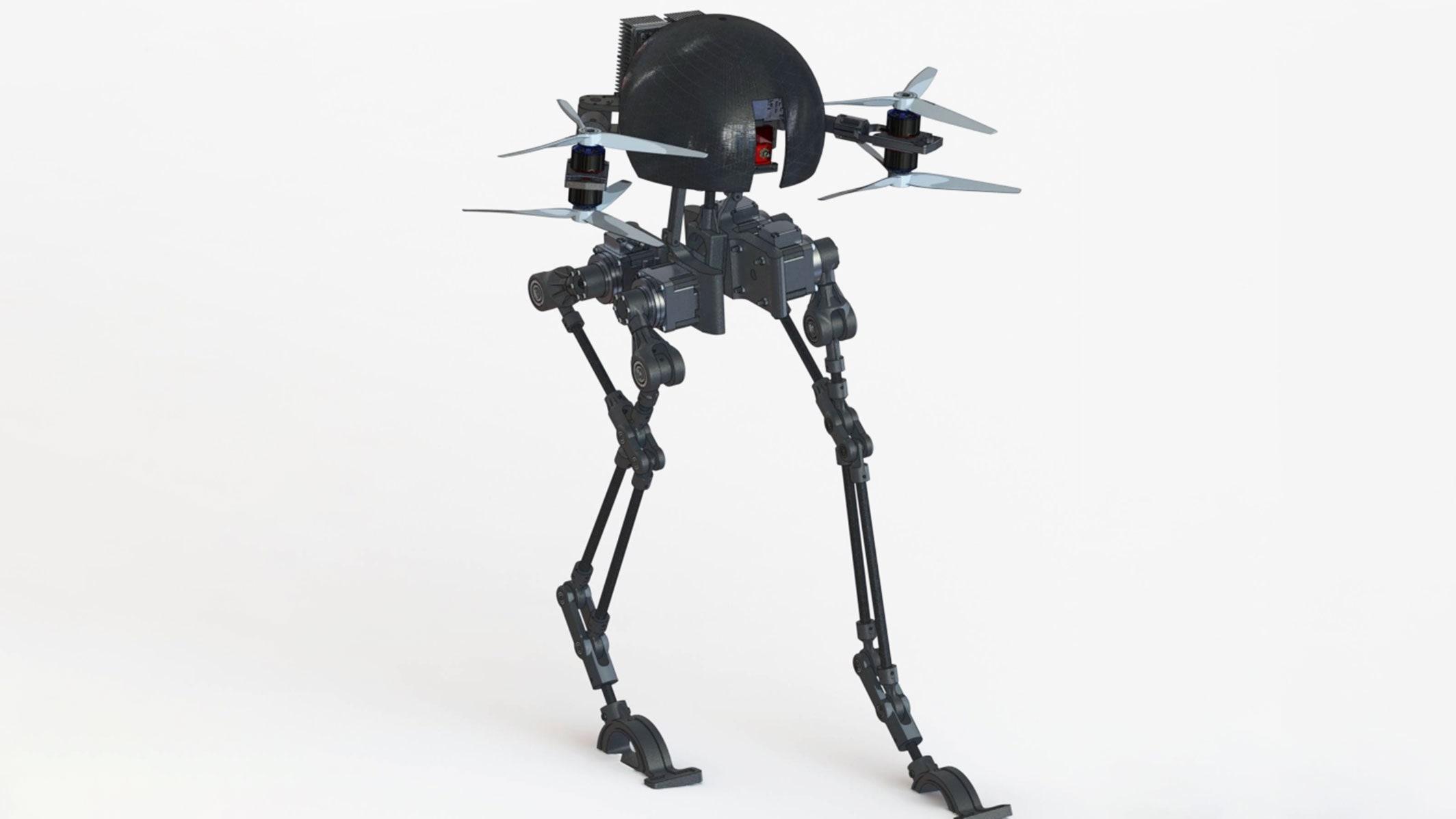 Wat Krijg Je Als Je Een Looprobot Met Een Drone Kruist? Het Resultaat Is Leo, Kort Voor Leonardo, Wat Weer Staat Voor Legs Onboard. Robotdrone Leo Kan Niet Alleen Vliegen, Maar Ook Lopen, Skateboarden En Zelfs Koorddansen. De Bedenkers Hebben Als Doel Om Een Meervoudig Inzetbare Robotdrone Te Creëren Die Voor Allerlei Taken Ingezet Kan Worden, Zoals Het Vervoeren Van Goederen Naar Moeilijk Te Bereiken Locaties.